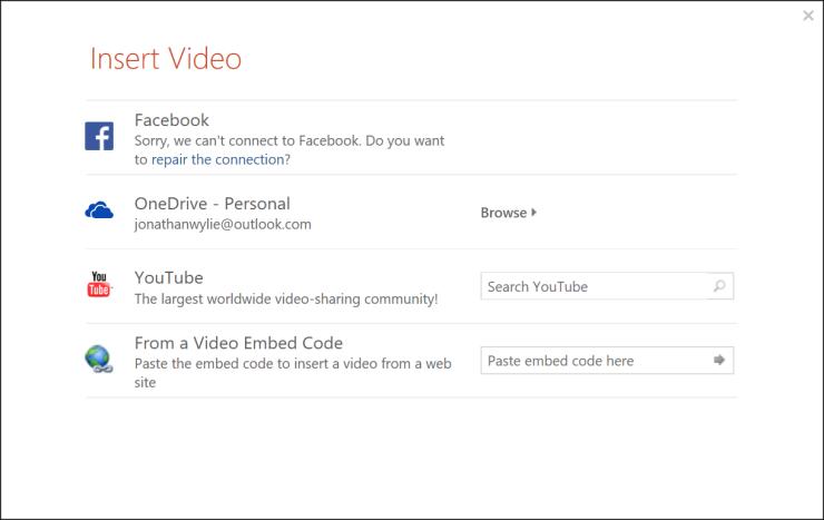 insert youtube video powerpoint