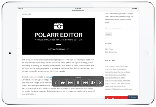 Speak Screen on the iPad
