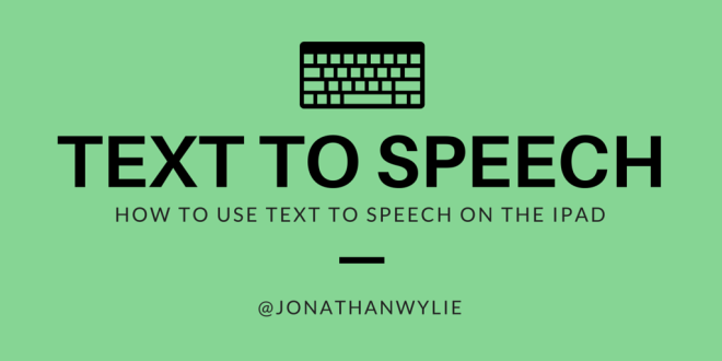 text to speech ipad