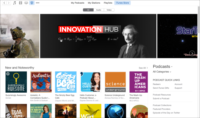 itunes podcast store