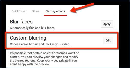blurring effects youtube