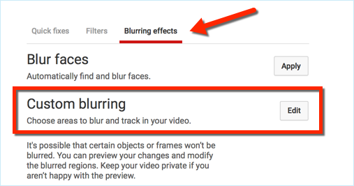 blurring effects youtube
