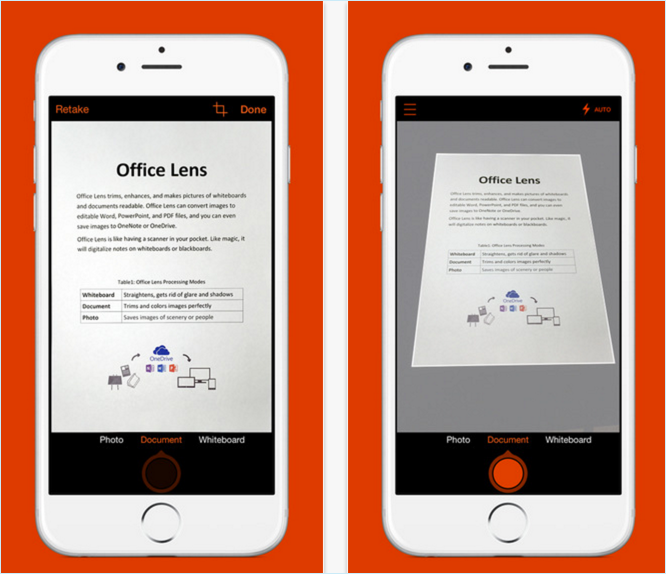 Scanning Documents with Office Lens