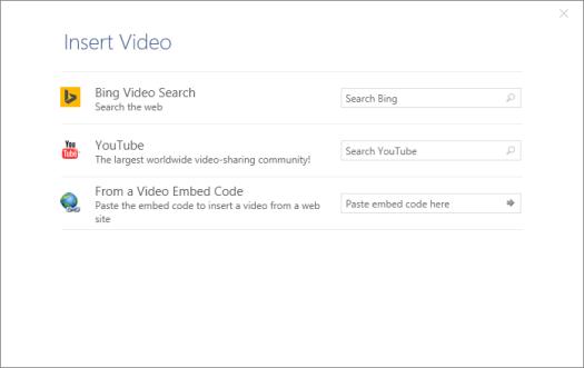 insert video