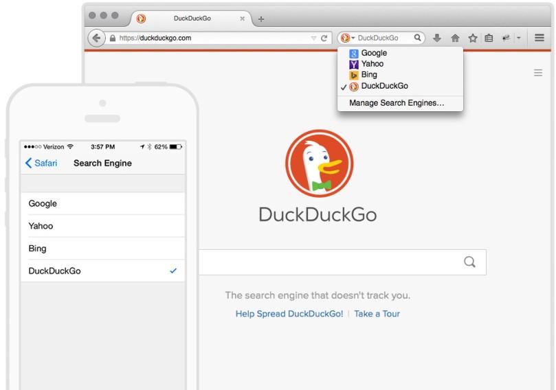 DuckDuckGo Safari Firefox