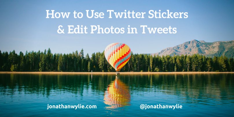 how to use twitter stickers