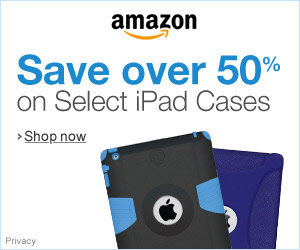 save 50% on iPad cases