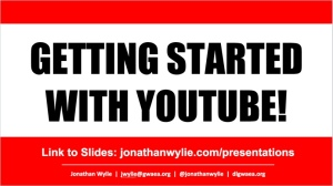 getting started youtube