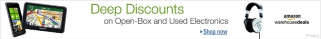 Deep Discounts on Open-Box and Used Electronics at Amazon