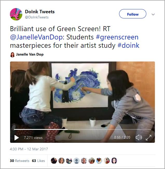 green screen art