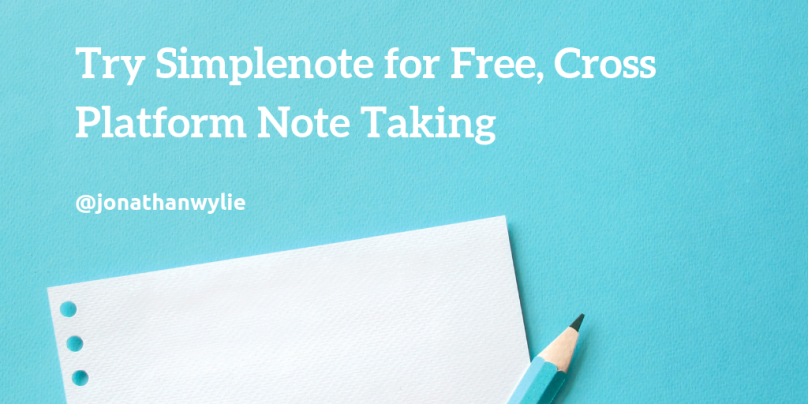 Try Simplenote for Free, Cross Platform Note Taking