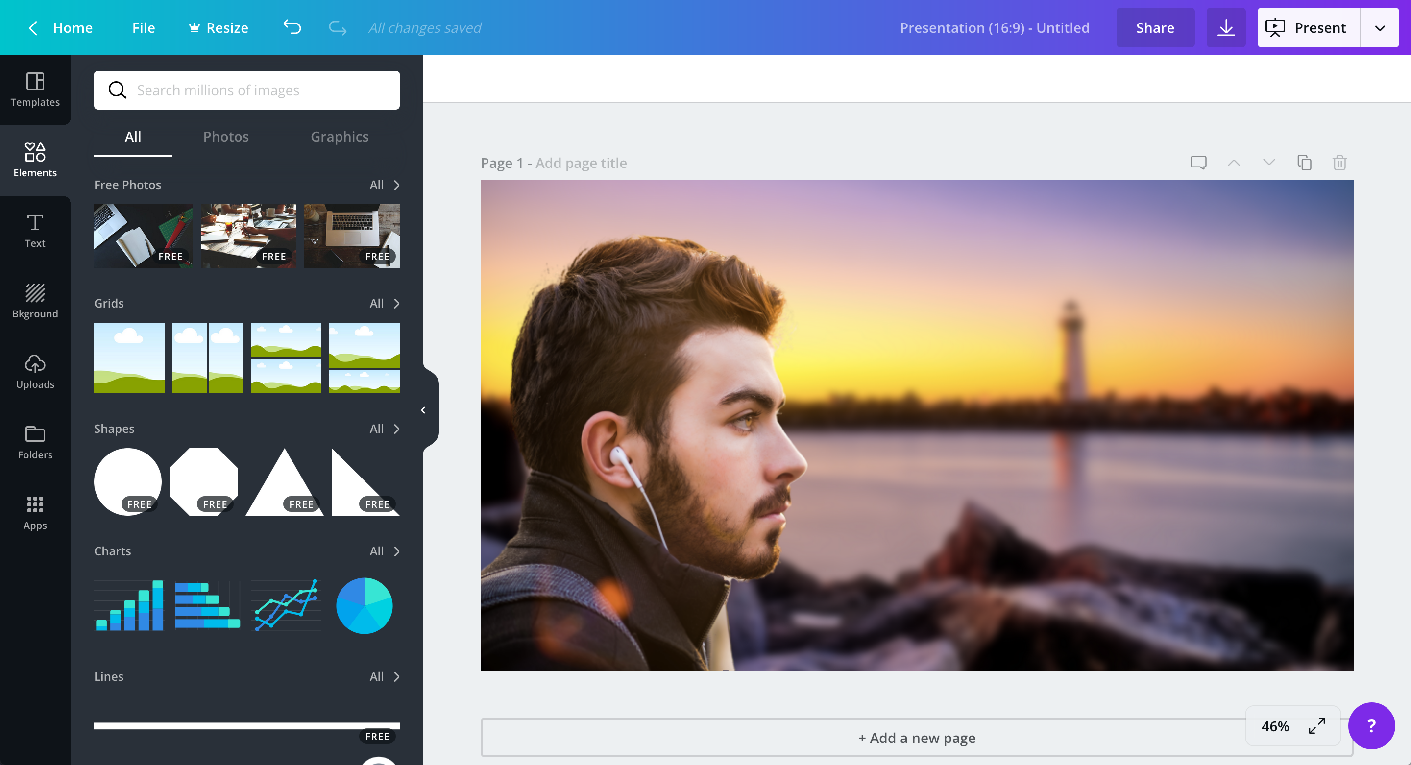 screenshot of canva.com showing one image layered on top of another.