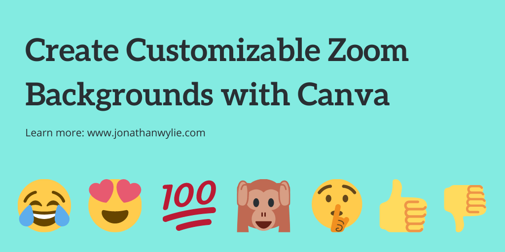 Create Customizable Zoom Backgrounds for Canva.